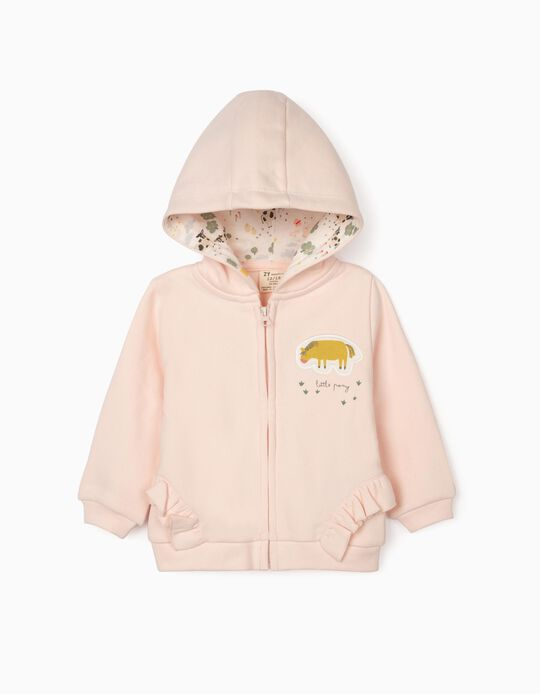 Hooded Jacket for Baby Girls 'Little Pony', Pink