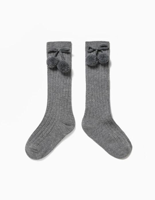 Chaussettes Hautes Nœud et Pompon