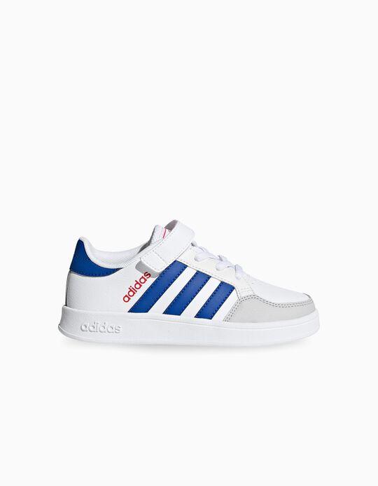 Zapatillas Infantiles 'Adidas Breaknet', Blanco/Rojo/Azul
