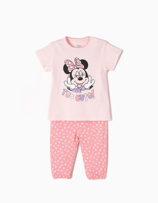 Pijama Manga Corta y Pantalón Minnie Too Cute