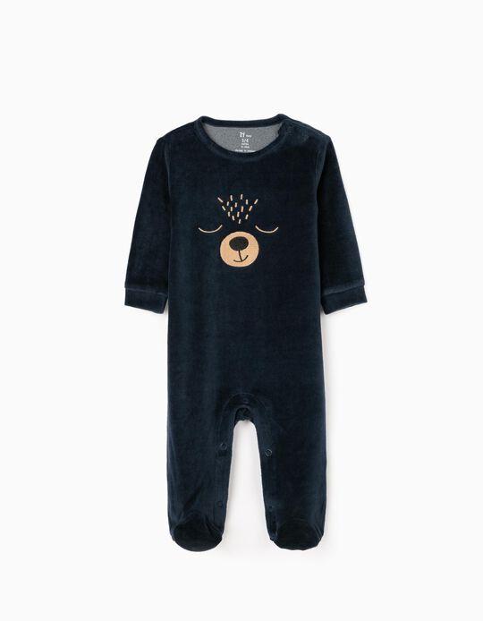 Pelele para Bebé Niño 'Bear', Azul Oscuro