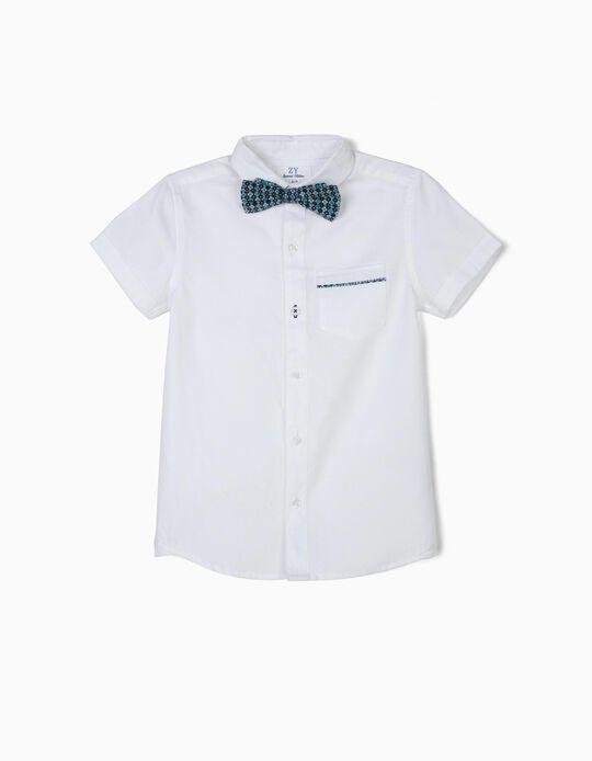 Camisa para Menino com Laço, Branco