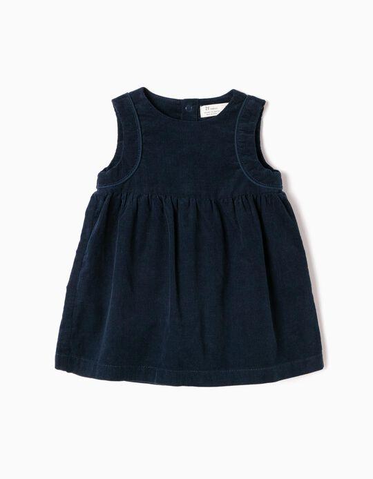 Vestido de Pana Azul
