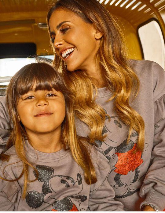 Sweatshirt Curta para Adulto Disney 'You & Me', Cinza