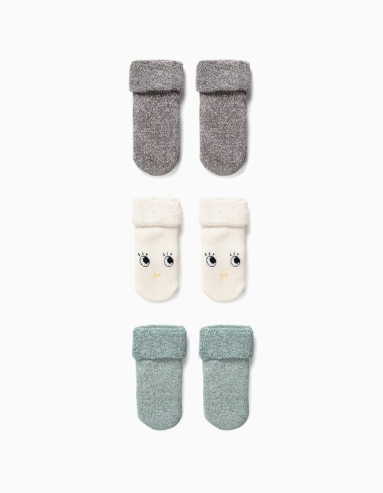 3 Pares de Calcetines para Bebé Niño 'Organic Cotton', Multicolor
