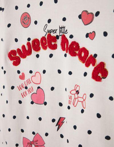 Camiseta de Manga Larga Sweetheart con Lacito