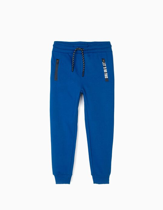 Pantalón de Chándal para Niño 'Let's Do This', Azul
