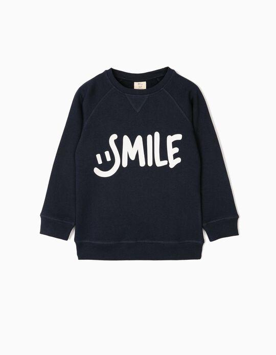 Sudadera para Niño 'Smile', Azul Oscura