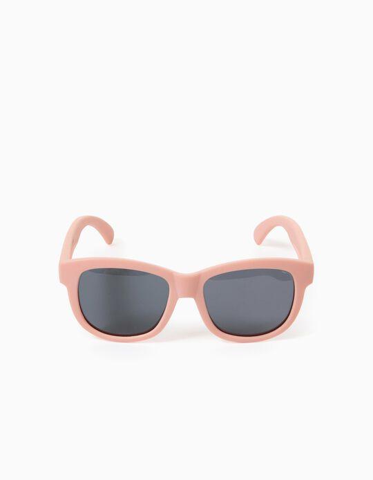 Lunettes de soleil flexibles fille, rose clair