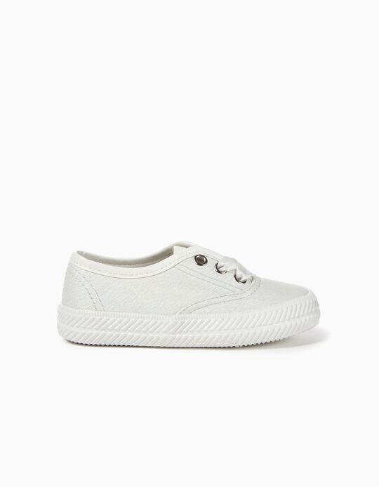 Zapatillas Brillantes para Bebé Niña, Blancas