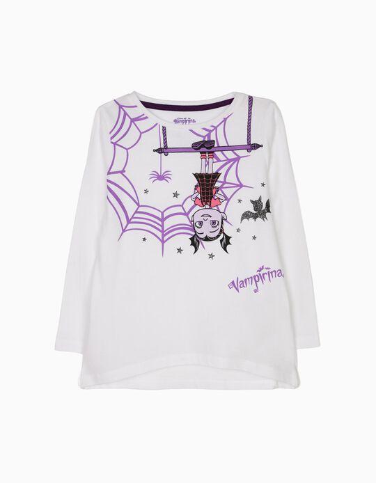 T-shirt Manga Comprida Vampirina Branca
