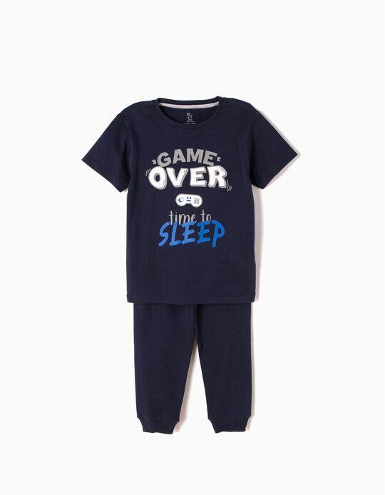 Pijama Manga Curta e Calças Game Over