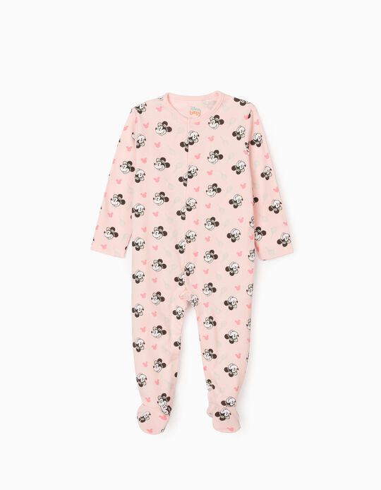Sleepsuit for Baby Girls 'Minnie Tennis', Light Pink