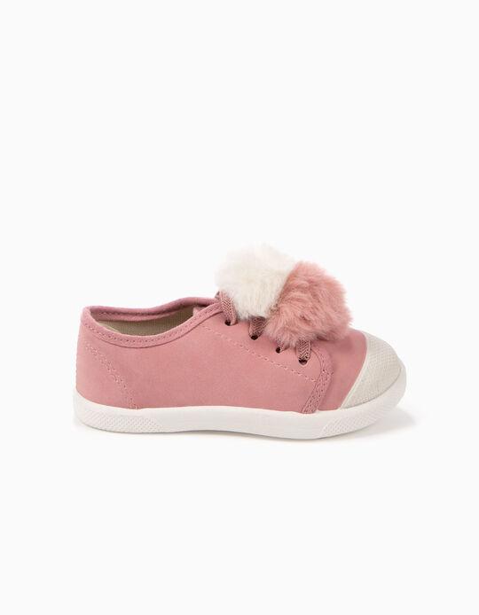 Zapatillas Bebé Niña ZY Smell Borlas Rosa