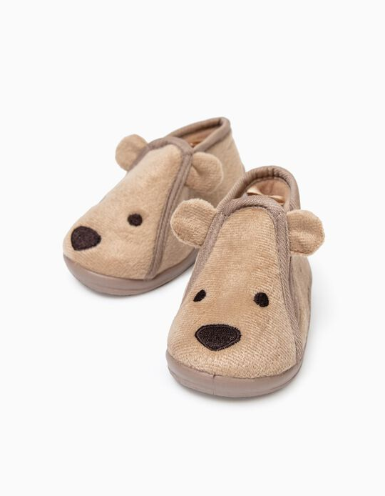 Slippers for Baby Boys 'Puppy', Camel