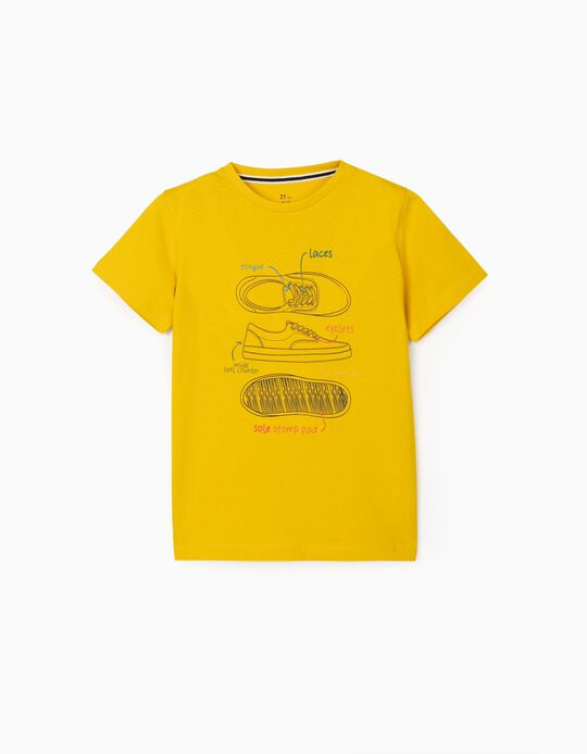 T-Shirt for Boys 'Trainers', Yellow
