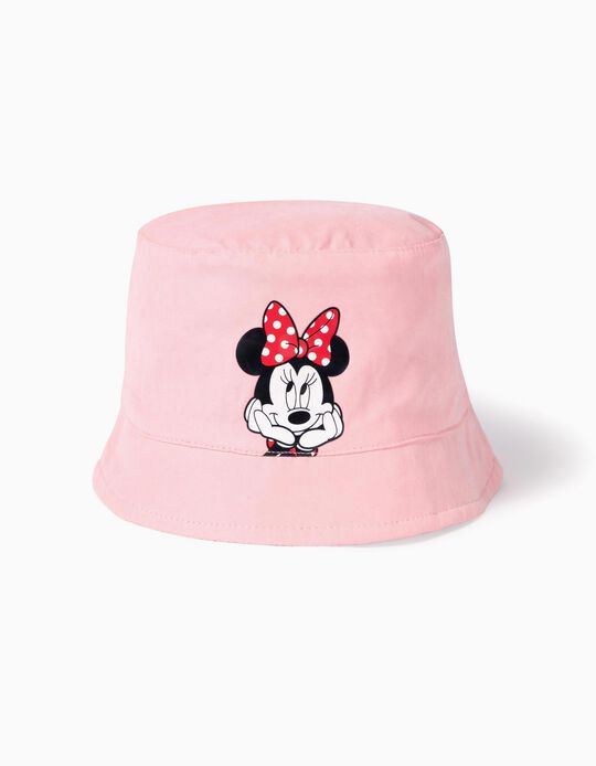 Reversible Hat for Baby Girls 'Minnie', Pink