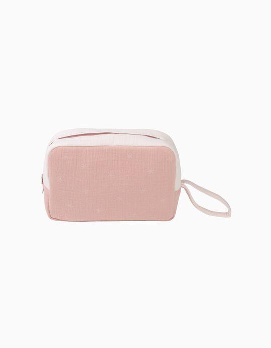 Bolsa Porta Objectos Musselina Stars Pink