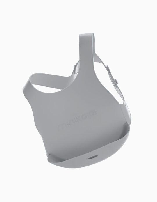 Silicone Bib, Minikoioi, Grey 6M+