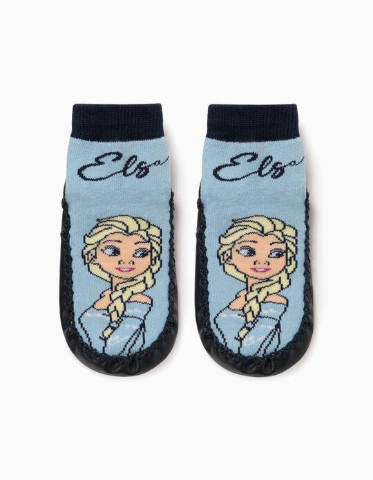 Non-slip Slippers Socks for Girls 'Frozen II', Blue