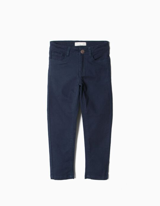 Pantalón de Sarga Azul Marino