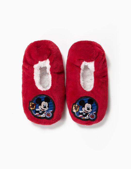 Pantufas para Menino 'Mickey 28', Bordô