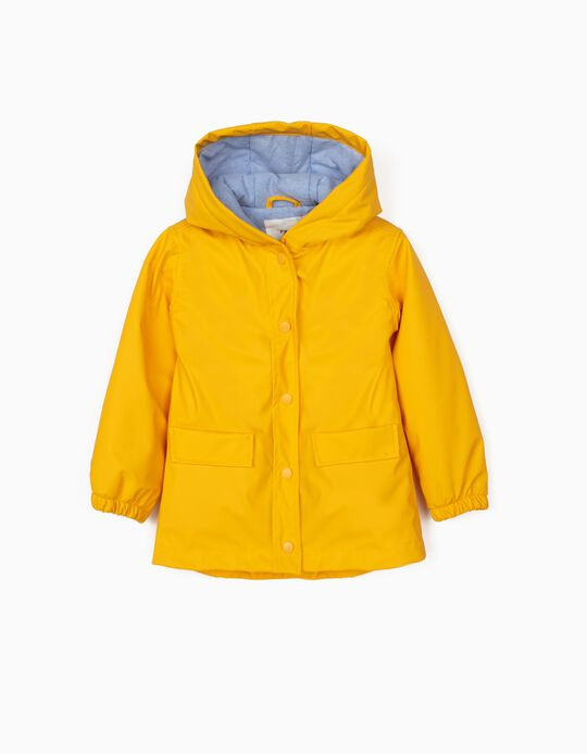 Padded Parka for Girls, Yellow