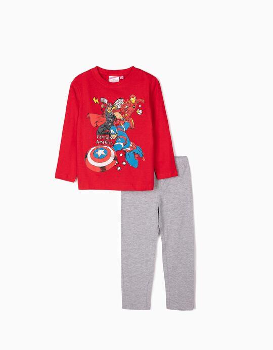 Pijama para Menino 'Avengers', Vermelho/Cinza