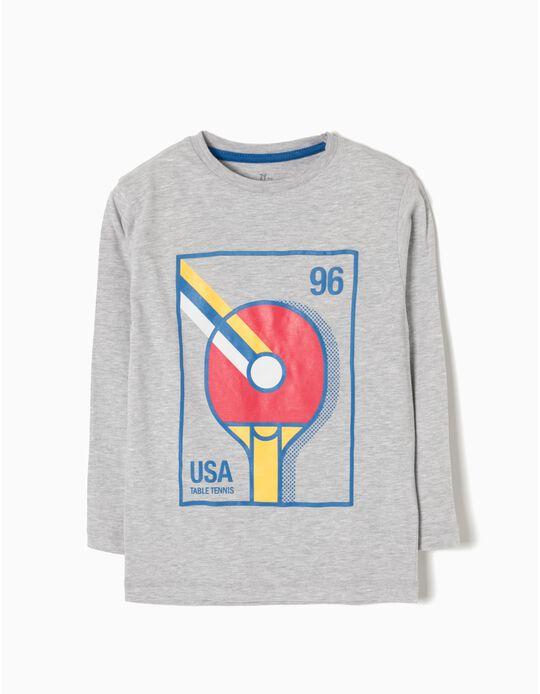 T-shirt Manga Comprida USA