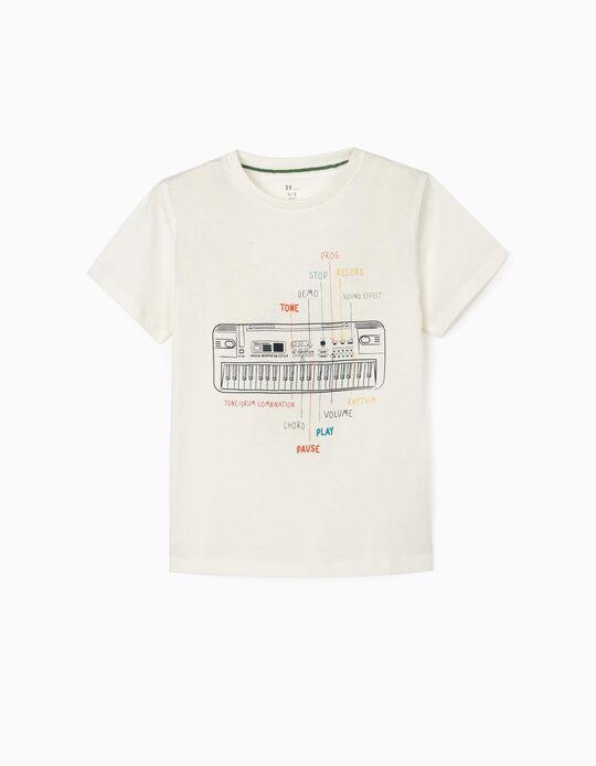 T-Shirt for Boys 'Keyboard', White