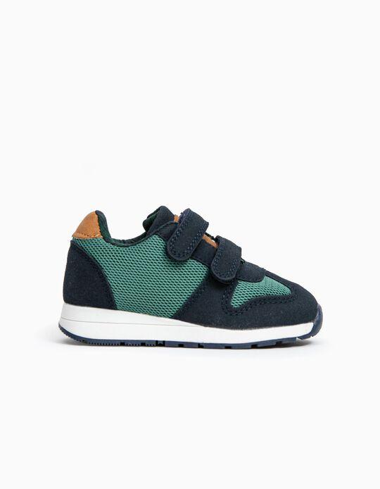 Sapatilhas para Bebé Menino 'ZY 96', Verde/Azul Escuro