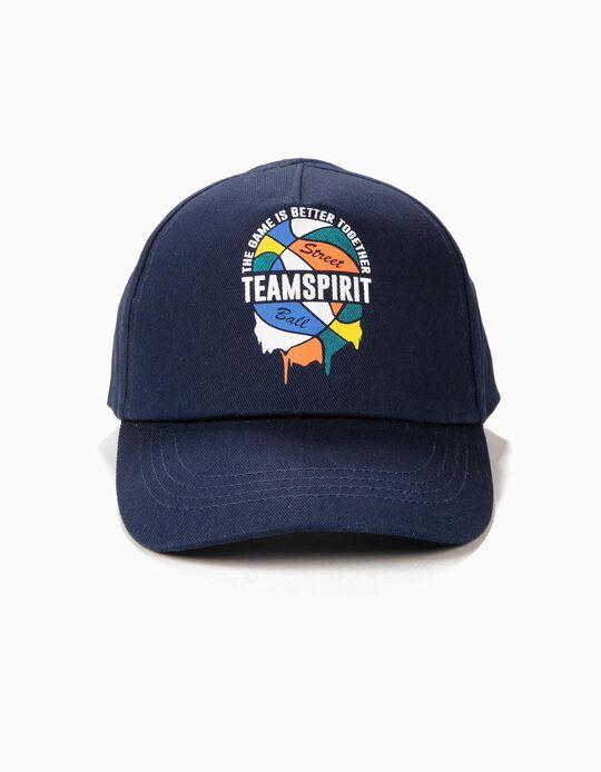 Gorra para Niño 'Team Spirit', Azul Oscuro