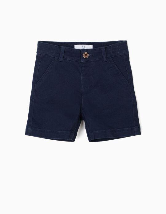 Short para Bebé Niño, Azul Oscuro