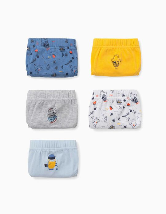 5 Briefs for Boys, 'Sailor', Multicoloured