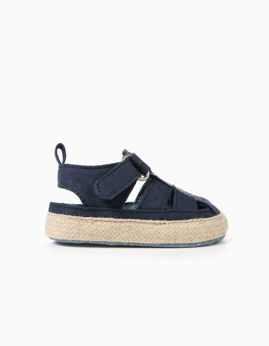 Sandálias para Recém-Nascido, Azul Escuro
