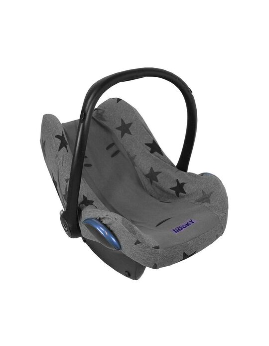 Car Seat Liner Gr 0+ by Dooky, Grey Stars