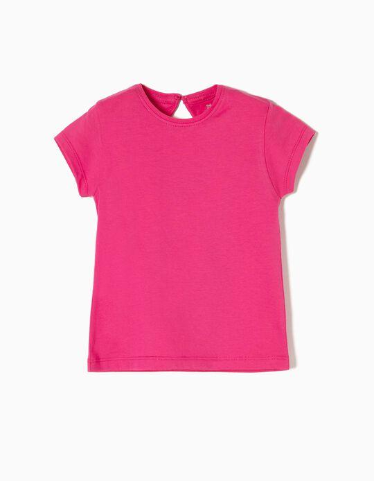 Camiseta de Algodón Pink
