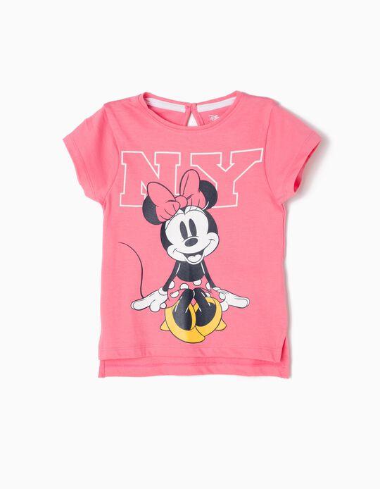 Camiseta Minnie NY Rosa