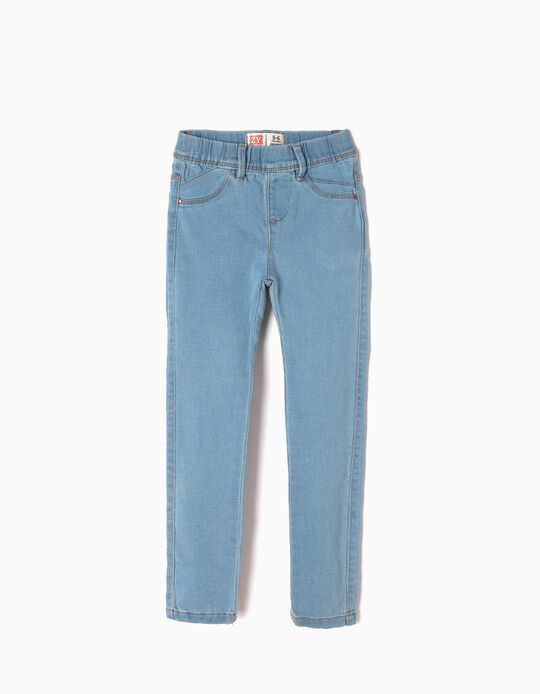 Denim Jeggings for Girls, Light Blue