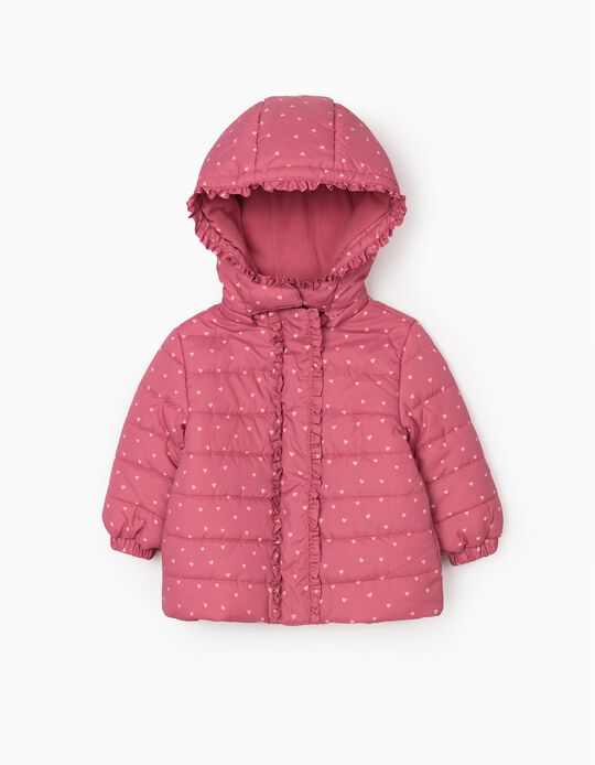 Padded Jacket for Baby Girls 'Hearts', Pink