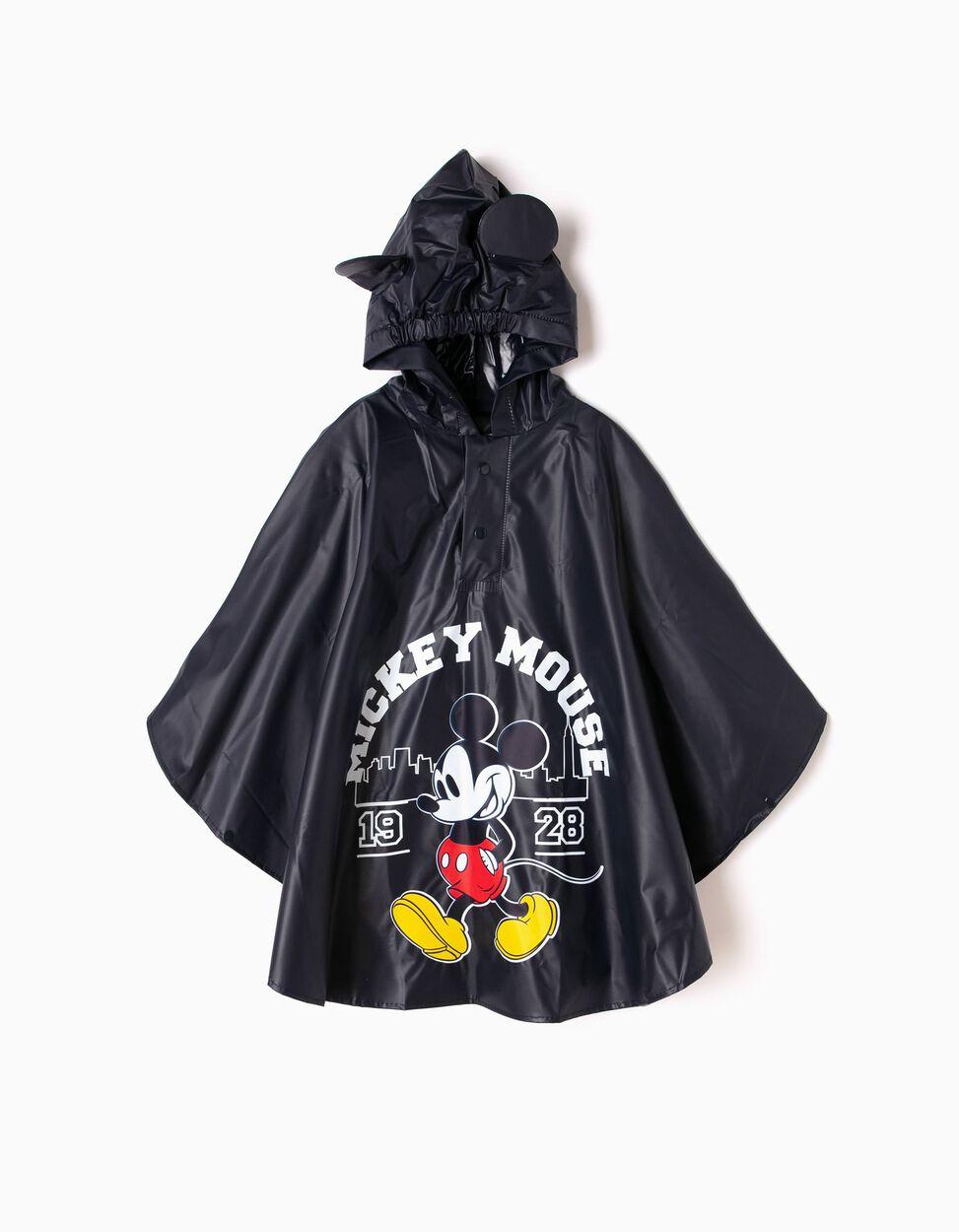 Capa Impermeable Azul Mickey