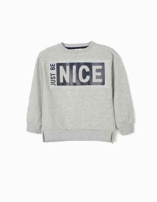 Sweatshirt para Menino 'Nice', Cinza