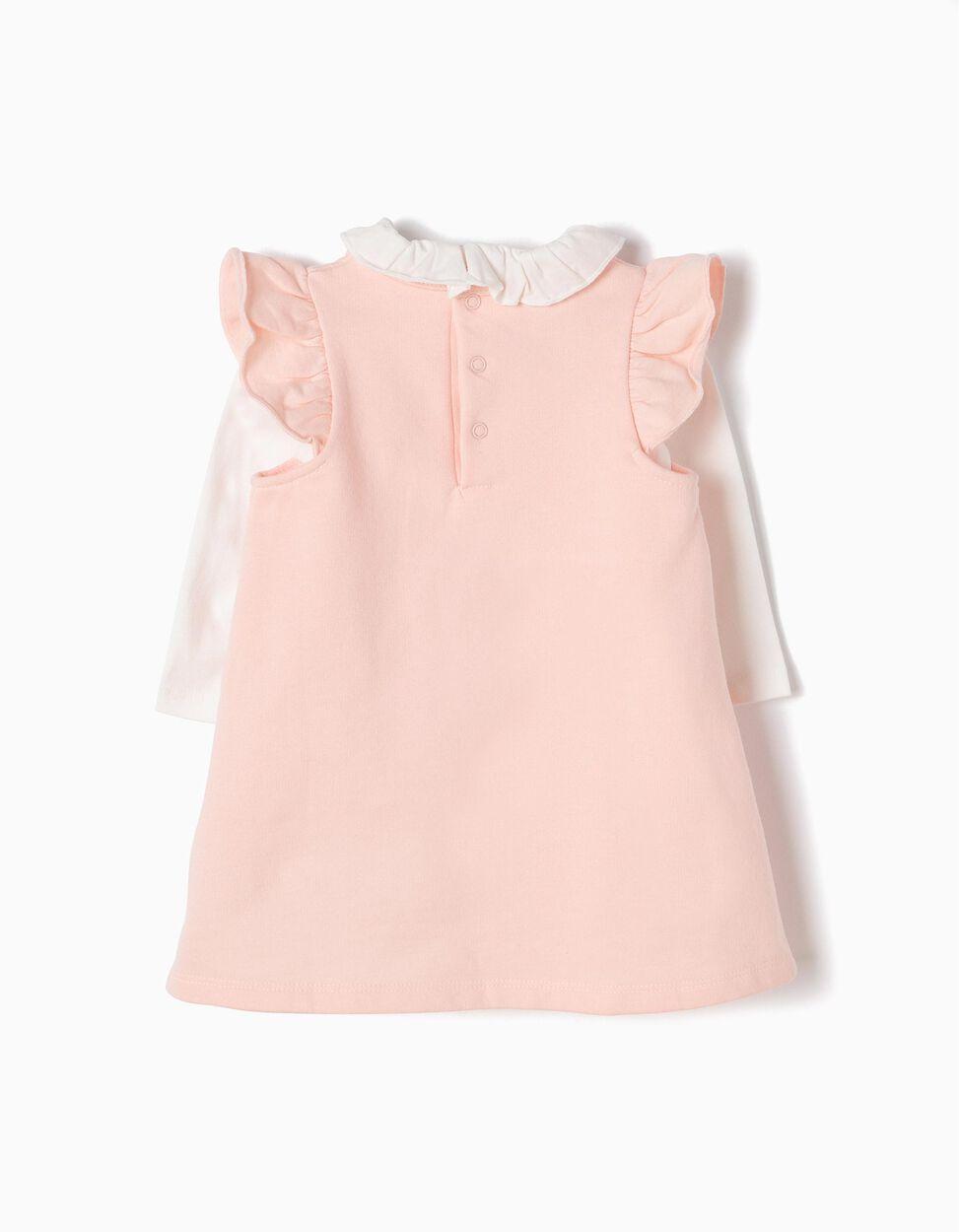 Conjunto Vestido-Body e T-shirt Minnie