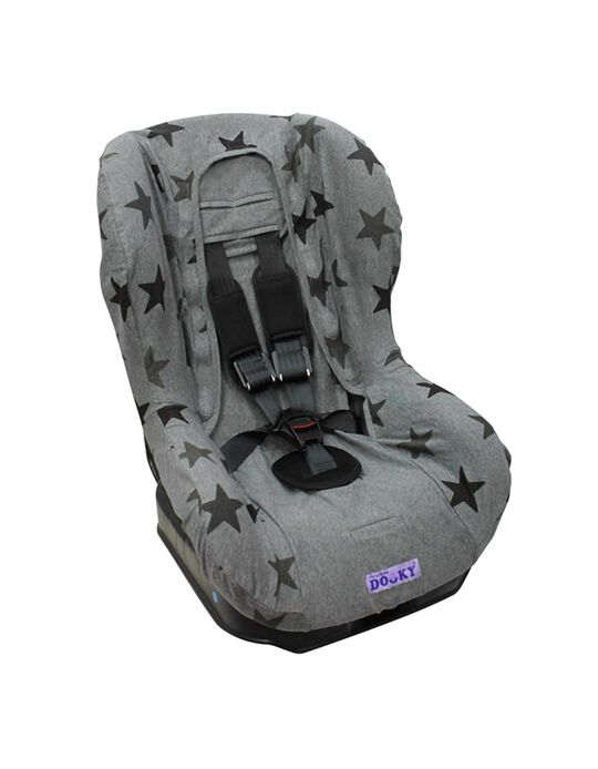 Car Seat Liner Gr 1 by Dooky, Grey Stars