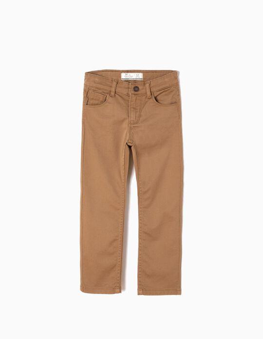 Pantalón de Sarga Camel