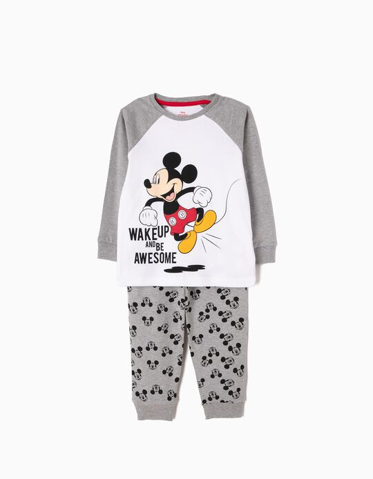 Pijama de Manga Larga y Pantalón Mickey Wake Up