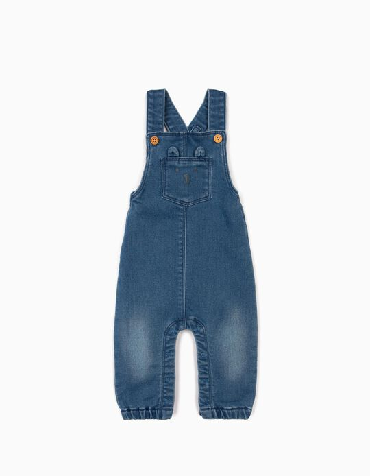 Dungarees for Newborn Baby Boys, 'Comfort Denim', Blue