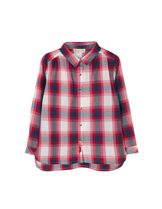 Camisa Ajedrez Tartán Rojo y Azul