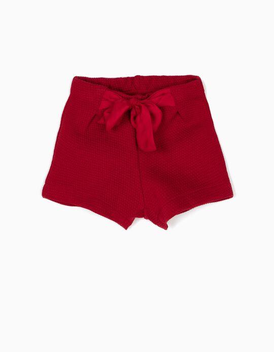 Short Rojo con Relieve