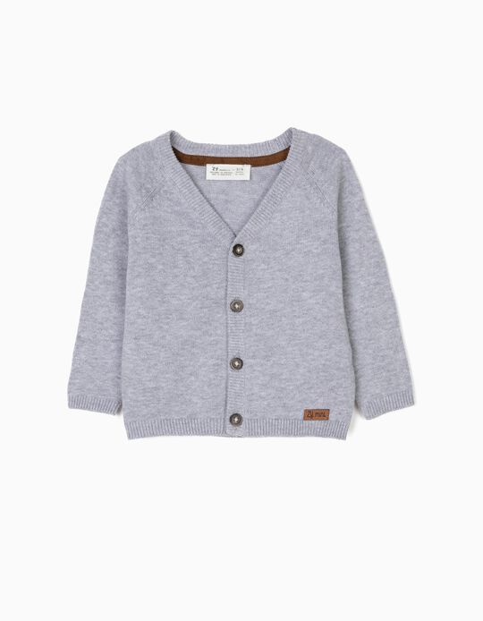 Cardigan for Newborn Baby Boys, Grey